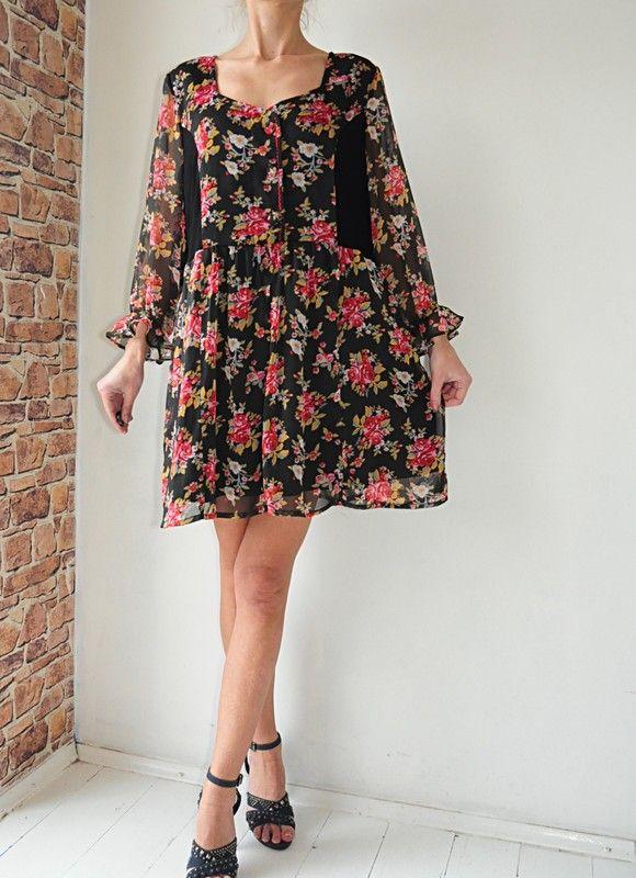 Joe Browns Sukienka Tunika W Kwiatki 48 Vinted Dresses Fashion Cold Shoulder Dress