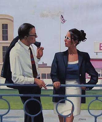 Jack Vettriano The Smooth Operator oil painting for sale