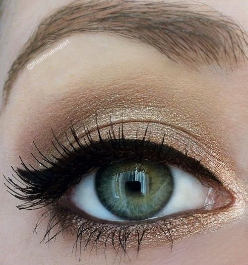 Gold shadow with winged liner  Love this look