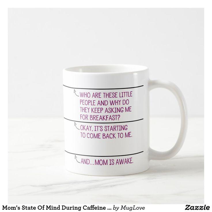 Mom's State Of Mind During Caffeine Consumption Coffee Mug