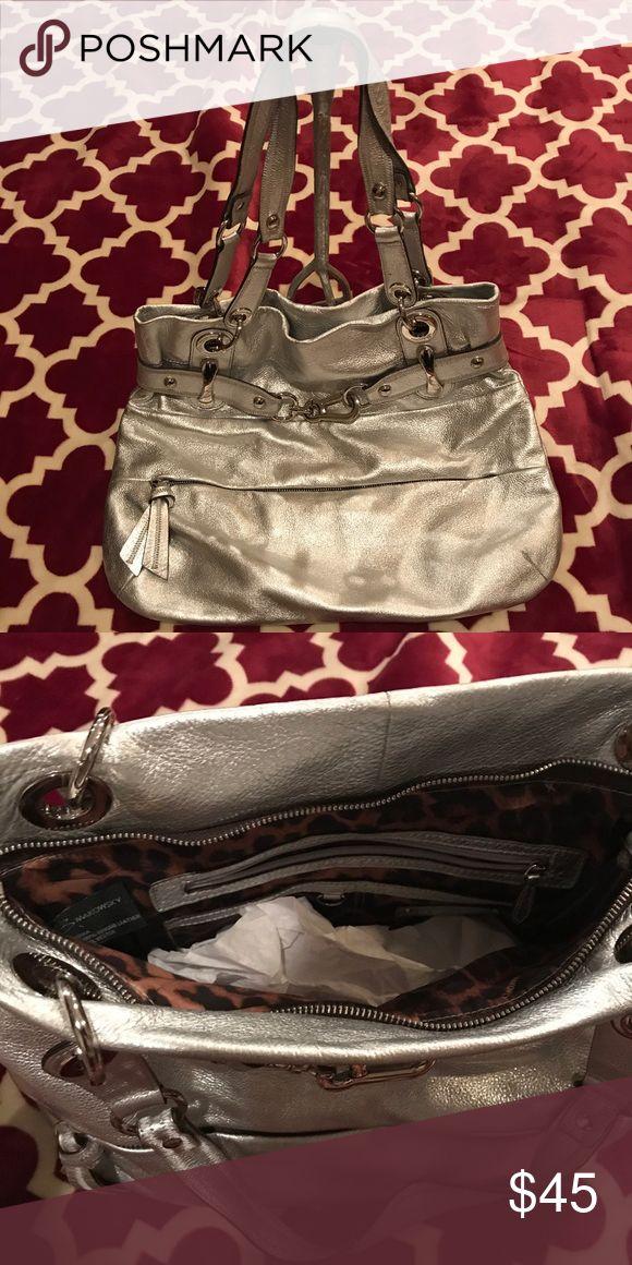B. Markowsky B. Markowsky silver shoulder bag b. makowsky Bags Shoulder Bags