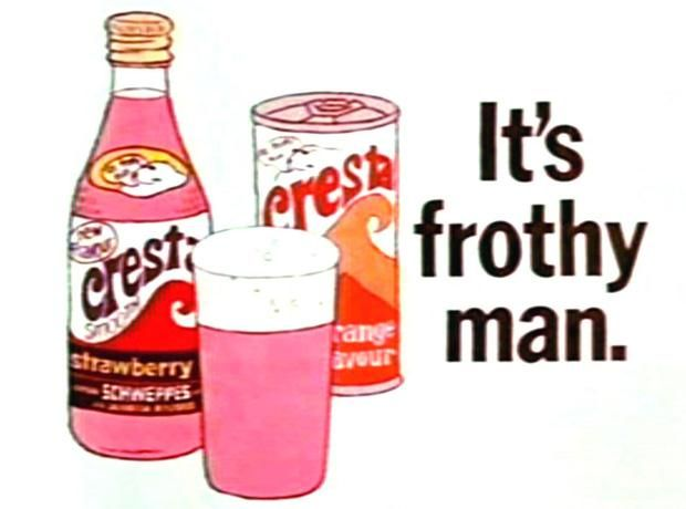 It's frothy man!… and sort of cloudy, and probably contained banned additives -  CRESTA soft drink TV ads