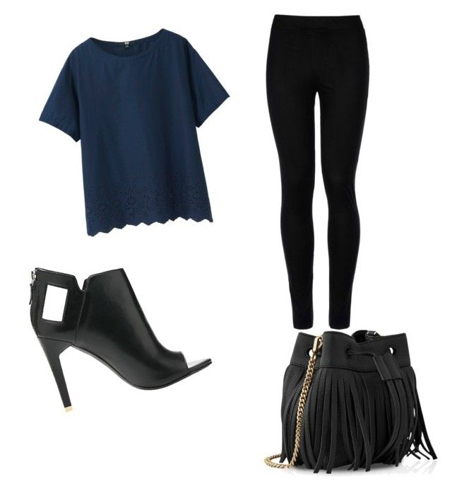 Untitled #19 by marcia17071996 on Polyvore featuring polyvore fashion style Uniqlo Wolford Alepel Whistles clothing