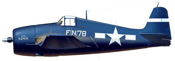 F6F-5N BuNo.72827 F(N)78 'Little Nance' of VMF(N)-533, Okinawa, June, 1945
