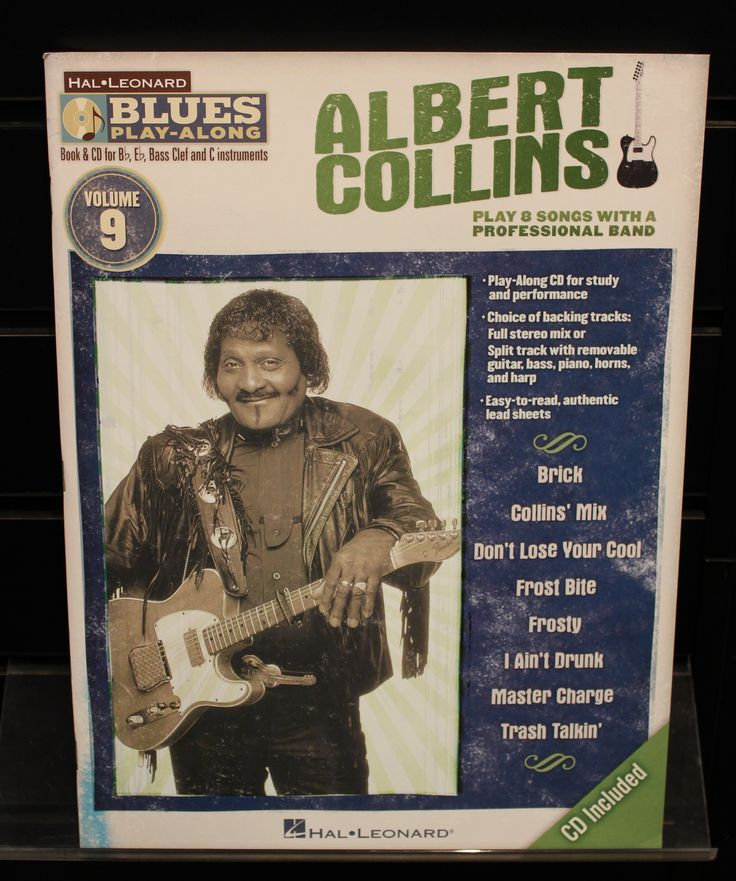 Albert Collins Blues Play-Along Volume 9 Softcover w/CD Songbook