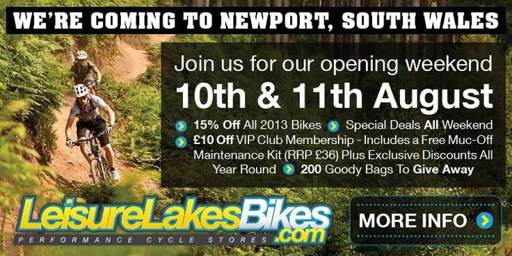Leisure Lakes Bikes are coming to Newport, South Wales!  Come and join us for our opening weekend on the 10th and 11th August! #leisurelakesbikes