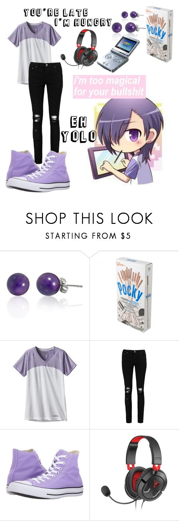"""Hanzo Urushihara"" by kathrynrose42 ❤ liked on Polyvore featuring Patagonia, Boohoo, Converse and Nintendo"