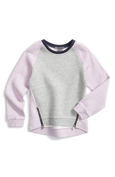 Vince+Colorblock+Fleece+Sweatshirt+(Toddler+Girls+&+Little+Girls)+available+at+#Nordstrom