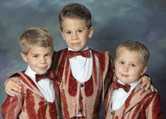 Bacon Tux: Funny Families Photos, Bows Ties, Lady Gaga, Suits, Holidays Cards, Future Kids, Halloween Food, Bacon Brother, Tuxedos