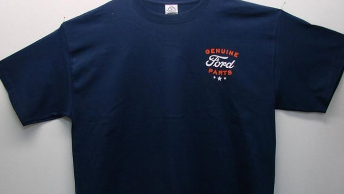 Ford Small Symbol Genuine Ford Parts Upper Left Front of Unisex T Shirt 18145E9 #GildanAnvilDelta