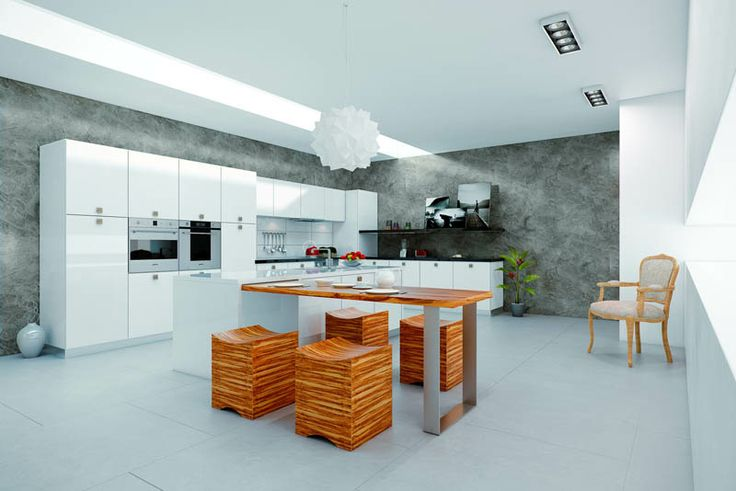 kitchen grafic design with paper texture wall
