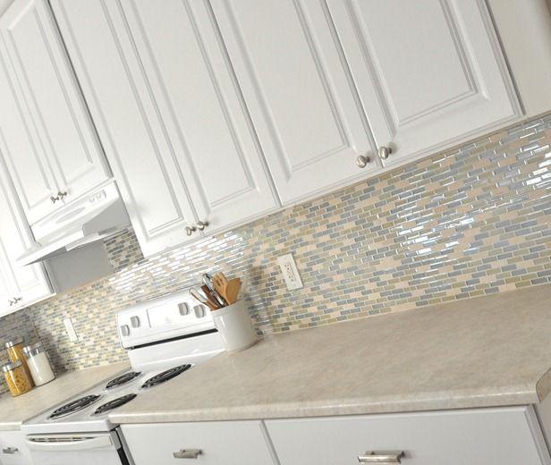 Light And Bright Tile   Nice With Black Worktop Wilsonart Countertops.  Kitchen ...