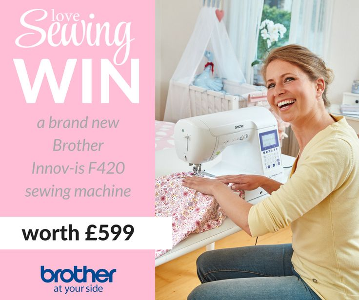 Win a shiny new Brother Innov-is F420 sewing machine worth £599 with @lovesewingmag  #sewing #dressmaking