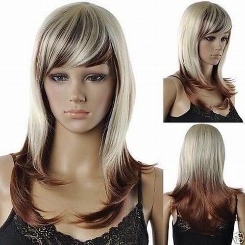 Bjc 001158 необычные длинные волосы смесь для женщин + парик крышка ( hairnet )