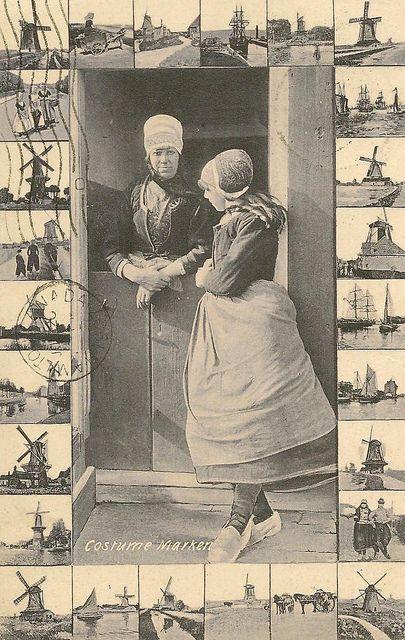 Dutch vintage postcard #NoordHolland #Marken