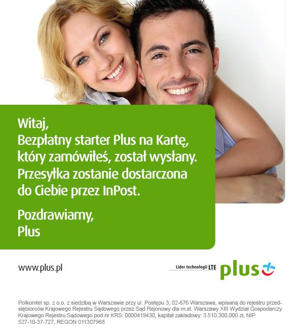 Mailing dla sieci Plus