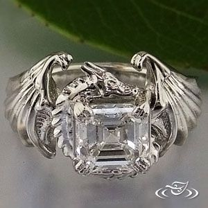 Dragon Ring Custom Platinum Dragon Mounting With