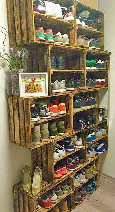 Читать на сайте Nebka.ru Деревянные ящики в интерьере. Большая подборка идей