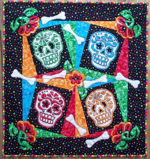 51 best Dia de Los Muertos Quilts images on Pinterest | Quilting ... : day of the dead quilt pattern - Adamdwight.com