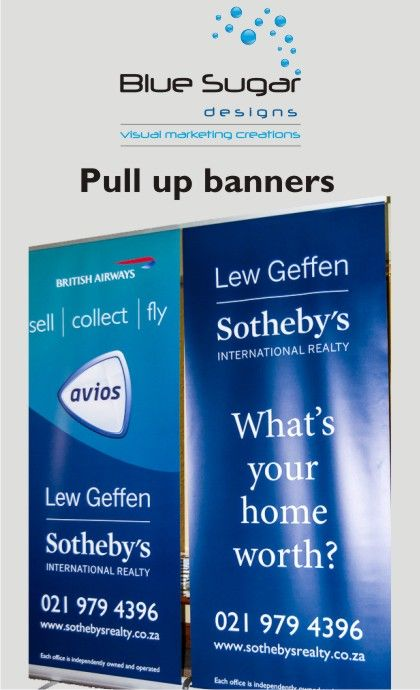 Pull-up banners, flipper banners, teardrop banners, any kind of banners