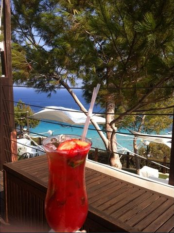 "A #happyfriday mood pairs perfectly with playful cocktails at the Cliff Bar next to the #beach‬ of Grecian Park Hotel Cyprus! Cheers to our lovely guest ""artemis_h"" who uploaded this great Instagram pic! http://www.grecianpark.com"