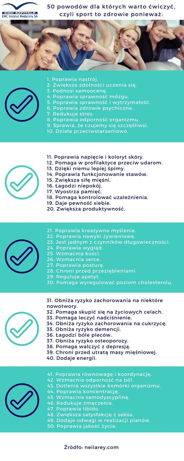 Ruszaj się!, masz co najmniej 50 powodów :) #emc #emcszpitale #ruch #sport