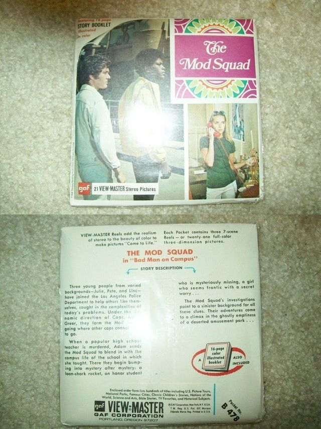 View-Master 168244: Vintage 1968 The Mod Squad View-Master Set - Factory Sealed Mint! -> BUY IT NOW ONLY: $50 on eBay!