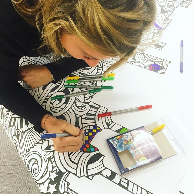 Spotted: @naomintroni and the giant colouring book. #wellbeingweek
