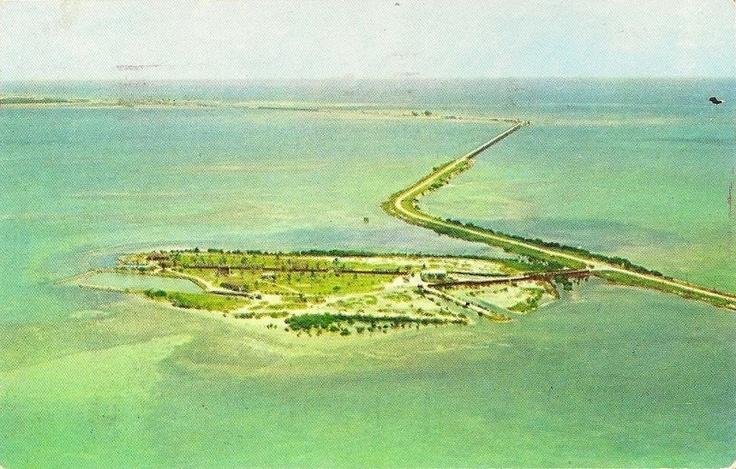 aerial view old FL Keys