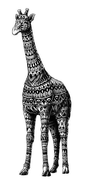 Giraffe by BioWorkZ | Zentangle Animals | Pinterest | Giraffes