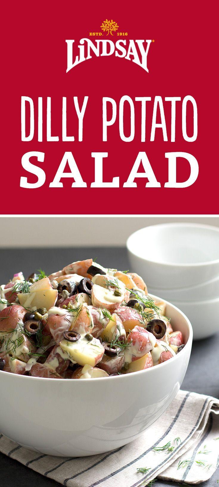 Dilly Potato Salad With Creamy Champagne Dressing Lindsay Recipe Potato Salad Recipes Vegan Dishes