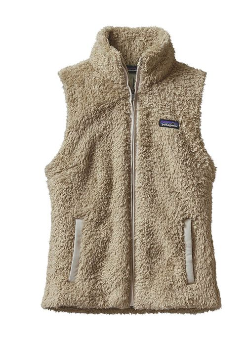 Women's Los Gatos Vest in El Cap Khaki by Patagonia is the perfect layering piece! This vest is made of deep-pile polyester fleece and features a tonal taffeta trim on the front zip and pockets, a ful
