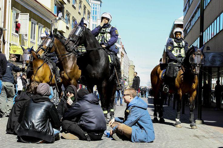 Demonstration i Jönköping 1 maj.
