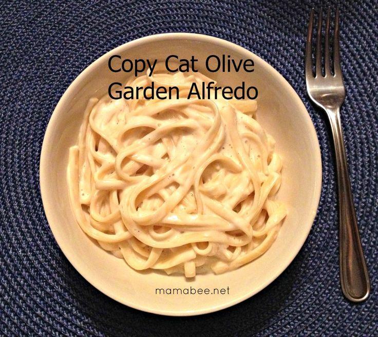 Copy Cat Olive Garden Alfredo Pasta Recipe Gardens Sauces And Alfredo Sauce