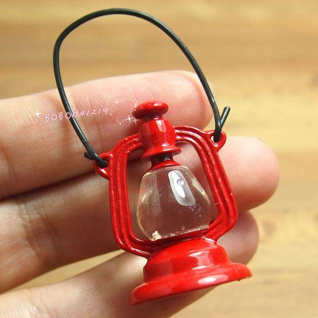 Кукольный домик миниатюрный 1:12 игрушка старинные металлические красный фонарь высота 5 см F19
