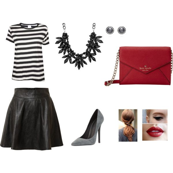 """""""Outfit para combinar una cartera roja."""" by claudiapacheconet on Polyvore"""
