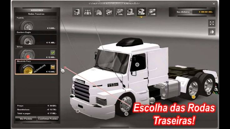 Euro truck Simulator 2 - Mod Caminhão Scania 113H Bicuda Download