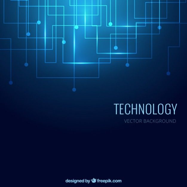 Fondo de tecnología en color azul Vector Gratis