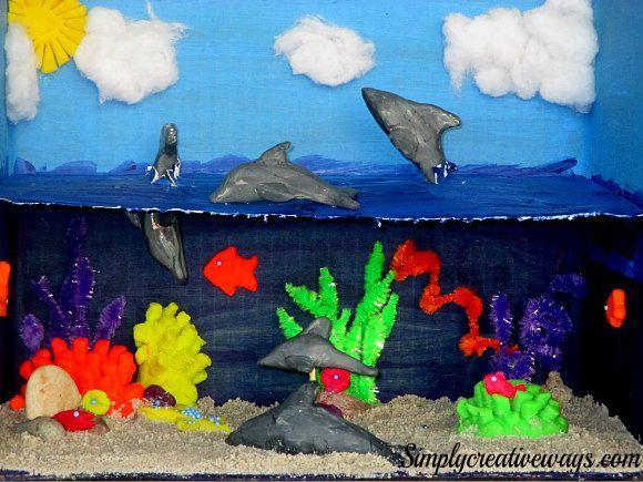 shoebox diorama ideas for kids - Google Search
