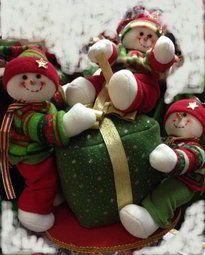 Muñecos de nieve con regalo