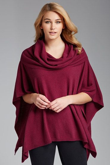 Capture Roll Neck Poncho |- From EziBuy NZ