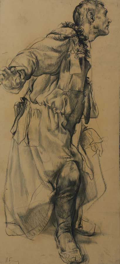 Nikolai Blokhin - Turned Back Superior drawing skills and wait till you see how he paints