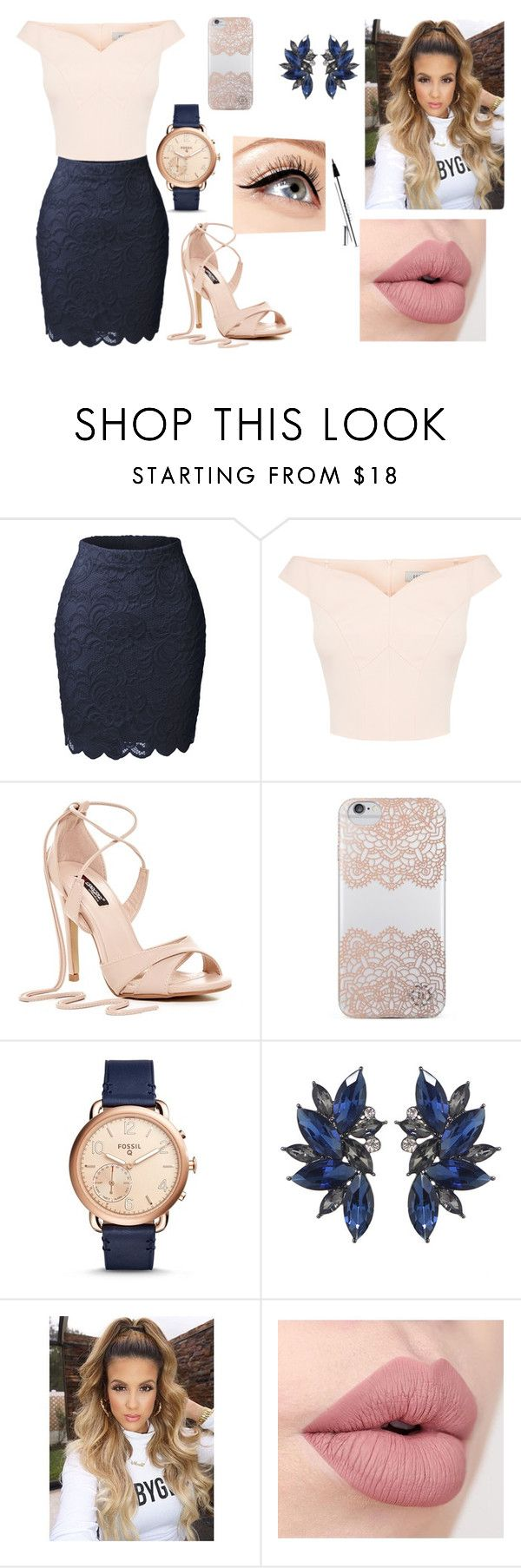 """Без названия #9"" by dasha-2002 on Polyvore featuring косметика, LE3NO, Nanette Lepore, FOSSIL и Luminess Air"