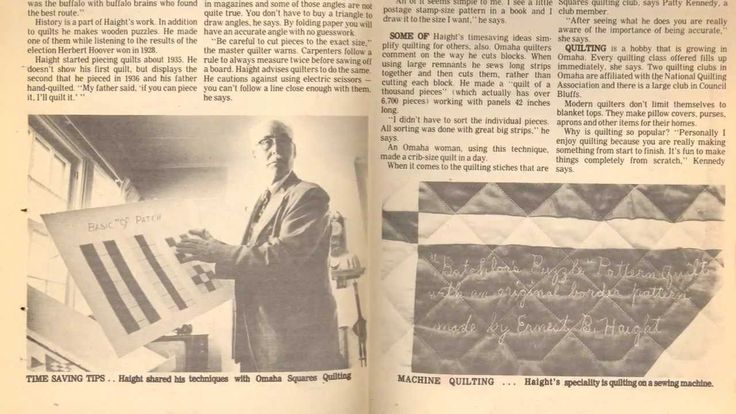 Ernest Haight - The Engineer Who Could Engineer turned quilter