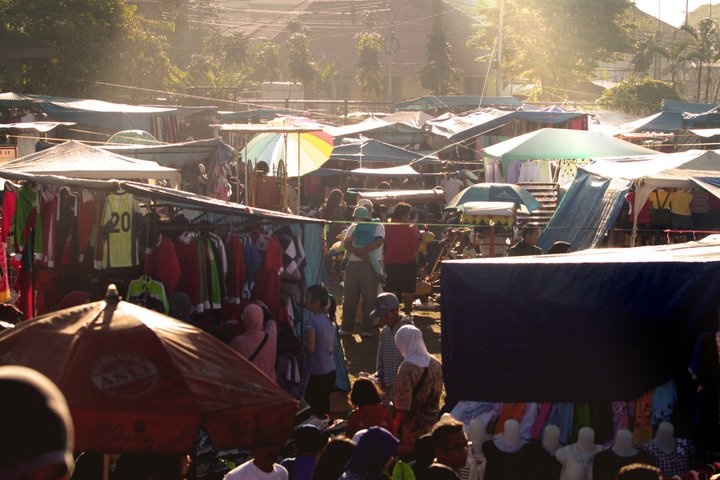 Gasibu traditional market - Bandung - Indonesia