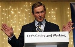 Enda Kenny for Fine Gael and Labour government. If nothing else our new Taoiseach has proved he is good at public speaking, he proved that yesterday. He seems to have the 'Gift of the gab' and certainly kept my attention. I just hope and pray that he continues in this positive mood and helps us to see some 'light at the end of the tunnel'.