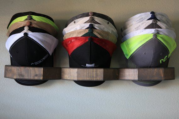 Hat Rack Oak Domedock Triple Etsy Diy Hat Storage Diy Hat Rack Hat Organization