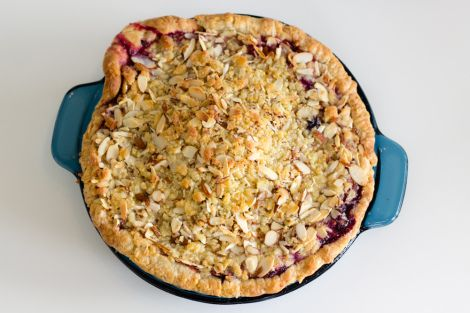 Mixed Berry Pie with Ginger, Orange, & Almond Streusel Recipe