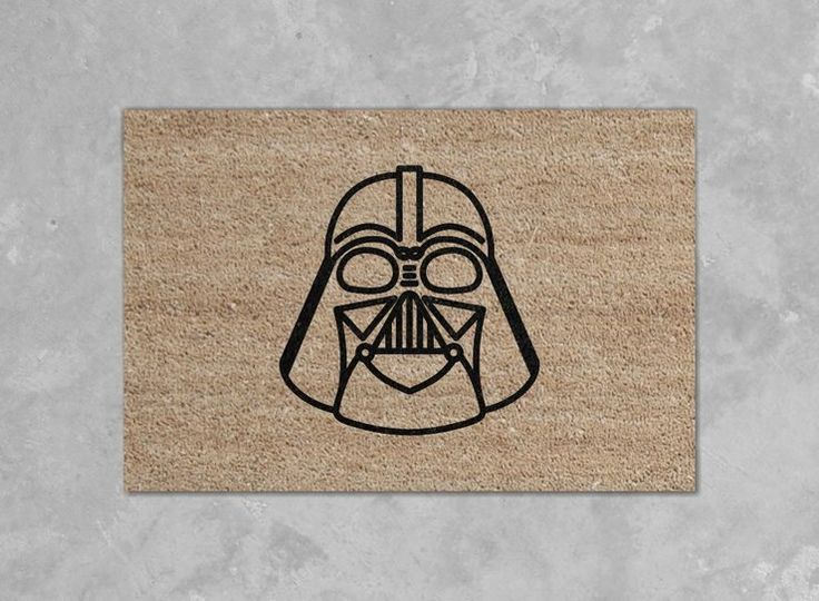 Darth Vader Star Wars door mat. by Black Wulf Handcrafted for sale on http://hellopretty.co.za