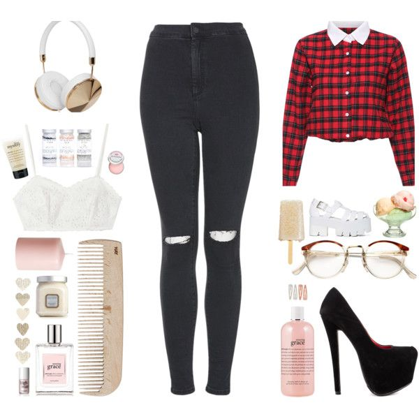 >>>>><<<<< by elenalovesu on Polyvore featuring Topshop, Shoe Republic LA, Frends, Candela, Jeffrey Campbell, Forever 21, RetroSuperFuture, Benefit, philosophy and Sephora Collection